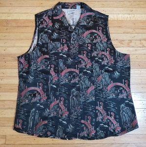 Chicos Asian decor vest  size 3